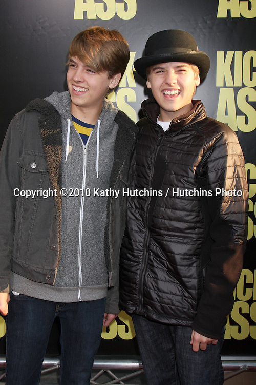 "Dylan Sprouse; Cole Sprouse .arrives at  the ""Kick-Ass"" Premiere.ArcLight Dome Theater.Los Angeles, CA.April 13, 2010.©2010 Kathy Hutchins / Hutchins Photo..."