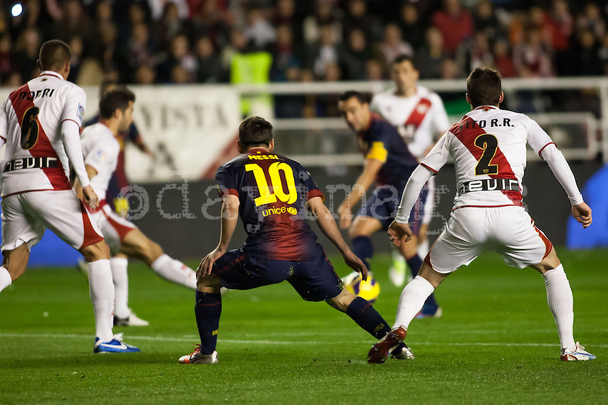 Leo Messi during the League match: Rayo Vallecano vs Bar?ßa