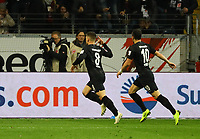 celebrate the goal, Torjubel zum 1:0 von Luka Jovic (Eintracht Frankfurt) - 11.11.2018: Eintracht Frankfurt vs. FC Schalke 04, Commerzbank Arena, DISCLAIMER: DFL regulations prohibit any use of photographs as image sequences and/or quasi-video.