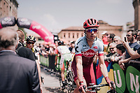 Tony Martin (GER/Katusha-Alpecin) to the start<br /> <br /> stage 13 Ferrara - Nervesa della Battaglia (180km)<br /> 101th Giro d'Italia 2018