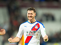 Crystal Palace Joel Ward celebrating after the Premier League match between West Ham United and Crystal Palace at the Olympic Park, London, England on 5 October 2019. Photo by Andrew Aleksiejczuk / PRiME Media Images.