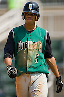Augusta shortstop Emmanuel Burris (5) at Fieldcrest Cannon Stadium in Kannapolis, NC, Monday, September 3, 2007.