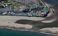 aerial photograph Beach Boardwalk Santa Cruz, California