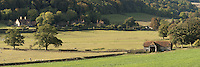 Panoramic view of part of Hambledon Village in the Thames Valley near Henley, Oxfordshire, Uk
