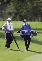 20 May, 2010:  Middle Tennessee State assistant coach (left) Chas Narramore and Craig Smith (right) chat on hole nine of the NCAA Division I Regionals tournament Thursday at Gold Mountain Golf Course in Bremerton, WA.