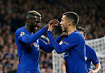 Chelsea's Tiemoue Bakayoko celebrates scoring his sides fourth goal during the champions league match at Stamford Bridge Stadium, London. Picture date 12th September 2017. Picture credit should read: David Klein/Sportimage