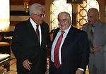 Palestinian President Mahmoud Abbas meets with Syrian Foreign Minister Wallid Muallem, in The Syrian Capital of Damascus.