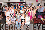 Karen O'Neill from Letter, Cahersiveen seated front centre celebrated her 21st birthday with family and friends at The Fertha Bar Cahersiveen on Saturday night lsat.