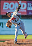 1 September 2014: Tri-City ValleyCats pitcher Junior Garcia on the mound against the Vermont Lake Monsters at Centennial Field in Burlington, Vermont. The ValleyCats defeated the Lake Monsters 3-2 in NY Penn League action. Mandatory Credit: Ed Wolfstein Photo *** RAW Image File Available ****