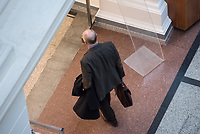 """6. Sitzung des 2. Untersuchungsausschusses <br /> der 18. Wahlperiode des Berliner Abgeordnetenhaus - """"BER II"""" - am Freitag den 23. November 2018.<br /> Der Ausschuss soll die Ursachen, Konsequenzen und Verantwortung fuer die Kosten- und Terminueberschreitungen des im Bau befindlichen Flughafens """"Berlin Brandenburg Willy Brandt"""" aufklaeren.<br /> Als oeffentlicher Tagesordnungspunkt war die Beweiserhebung durch Vernehmung des Zeugen Horst Amann vorgesehen. Amman (im Bild) war von August 2012 bis November 2013 Technikchef am Flughafen Berlin Brandenburg.<br /> 23.11.2018, Berlin<br /> Copyright: Christian-Ditsch.de<br /> [Inhaltsveraendernde Manipulation des Fotos nur nach ausdruecklicher Genehmigung des Fotografen. Vereinbarungen ueber Abtretung von Persoenlichkeitsrechten/Model Release der abgebildeten Person/Personen liegen nicht vor. NO MODEL RELEASE! Nur fuer Redaktionelle Zwecke. Don't publish without copyright Christian-Ditsch.de, Veroeffentlichung nur mit Fotografennennung, sowie gegen Honorar, MwSt. und Beleg. Konto: I N G - D i B a, IBAN DE58500105175400192269, BIC INGDDEFFXXX, Kontakt: post@christian-ditsch.de<br /> Bei der Bearbeitung der Dateiinformationen darf die Urheberkennzeichnung in den EXIF- und  IPTC-Daten nicht entfernt werden, diese sind in digitalen Medien nach §95c UrhG rechtlich geschuetzt. Der Urhebervermerk wird gemaess §13 UrhG verlangt.]"""