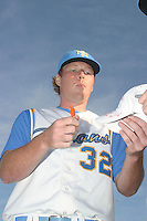 Tommy Hanson of the Myrtle Beach Pelicans vs. the Frederick Keys at BB&T Coastal Field in Myrtle Beach, SC on April 11, 2008