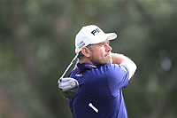 Lee Westwood (ENG) tees off the 7th tee during Sunday's storm delayed Final Round 3 of the Andalucia Valderrama Masters 2018 hosted by the Sergio Foundation, held at Real Golf de Valderrama, Sotogrande, San Roque, Spain. 21st October 2018.<br /> Picture: Eoin Clarke | Golffile<br /> <br /> <br /> All photos usage must carry mandatory copyright credit (&copy; Golffile | Eoin Clarke)