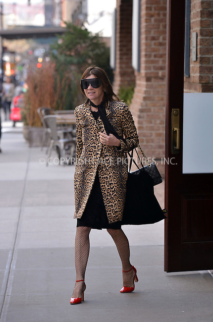 WWW.ACEPIXS.COM<br /> <br /> March 16, 2016 New York City<br /> <br /> Editor Carine Roitfeld spotted leaving a downtown Manhattan hotel on March 16 2016 in New York City.<br /> <br /> <br /> Please byline: Curtis Means/ACE Pictures<br /> <br /> ACE Pictures, Inc.<br /> www.acepixs.com, Email: info@acepixs.com<br /> Tel: 646 769 0430