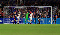 ORLANDO, FL - MARCH 05: Alyssa Naeher #1 of the United States sets her defense during a game between England and USWNT at Exploria Stadium on March 05, 2020 in Orlando, Florida.