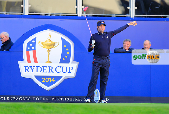 Bubba Watson (USA)  during the Saturday morning Fourballs of the 2014 Ryder Cup at Gleneagles. The 40th Ryder Cup is being played over the PGA Centenary Course at The Gleneagles Hotel, Perthshire from 26th to 28th September 2014.: Picture Eoin Clarke, www.golffile.ie / www.golftouri,ages.com: \27/09/2014\