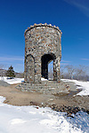 Observation tower on top of Mt. Battie, Camden Hills State Park, Maine, USA.