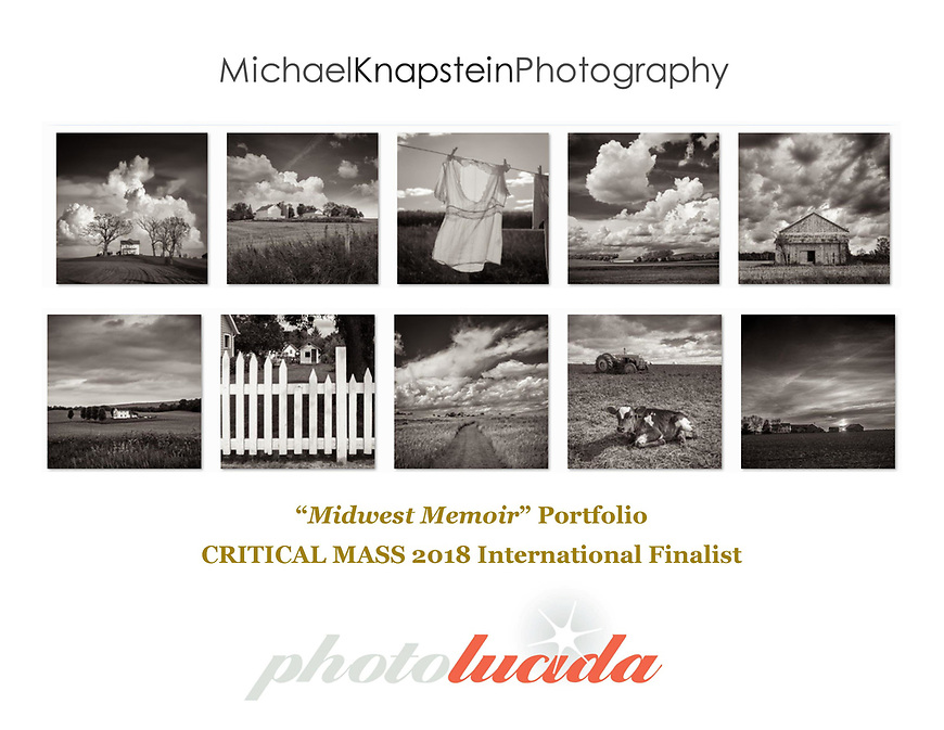 A 10-image portfolio by Michael Knapstein was selected as one of the Top 200 in Critical Mass 2018, an international portfolio competition by Photolucida in Portland, Oregon.