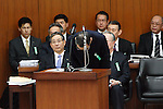 March 27, 2012, Tokyo, Japan - Kazuhiko Asakawa, president of AIJ Investment Advisor Co., attends a committee at the Lower house of parliament in Tokyo on Tuesday, March 27, 2012. Asakawa admits that he gave the order to falsify investment results in his first public comments since his firm was suspected of losing more than $1 billion. (Photo by Motoo Naka/AFLO)