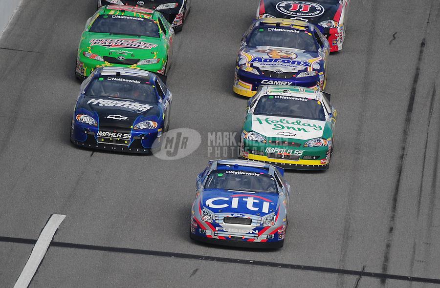 Feb 14, 2009; Daytona Beach, FL, USA; NASCAR Nationwide Series driver Greg Biffle leads the field during the Camping World 300 at Daytona International Speedway. Mandatory Credit: Mark J. Rebilas-