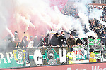 30.11.2019,  GER; 2. FBL, FC St. Pauli vs Hannover 96 ,DFL REGULATIONS PROHIBIT ANY USE OF PHOTOGRAPHS AS IMAGE SEQUENCES AND/OR QUASI-VIDEO, im Bild die Fans von Hannover zuenden zu Spielbeginn Pyrotechnik Foto © nordphoto / Witke *** Local Caption ***