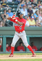 July 29, 2009: Outfielder D'Arby Myers (3) of the Lakewood BlueClaws, Class A affiliate of the Philadelphia Phillies, in a game at Fluor Field at the West End in Greenville, S.C. Photo by: Tom Priddy/Four Seam Images