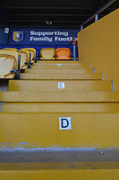 A Mansfield Town supporter takes his seat early prior to the Sky Bet League 2 match between Mansfield Town and Wycombe Wanderers at the One Call Stadium, Mansfield, England on 31 October 2015. Photo by Garry Griffiths.