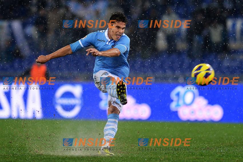 Hernanes Lazio.Roma 11/11/2012 Stadio Olimpico.Football Calcio 2012/2013 Serie A .Lazio Vs Roma.Foto Andrea Staccioli Insidefoto