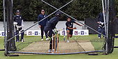 Cricket Scotland - Scotland train at Grange CC, Edinburgh ahead of tomorrow's Scotland V Namibia World Cricket League ONeDay match, the first of two this week on the same ground -  Harris Alsam takes a stint of net bowling - picture by Donald MacLeod - 10.06.2017 - 07702 319 738 - clanmacleod@btinternet.com - www.donald-macleod.com