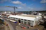 Port and docks at Falmouth, Cornwall, England, UK
