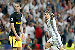Real Madrid's Cristiano Ronaldo (r) celebrates goal in presence of Atletico de Madrid's Diego Godin during Champions League 2016/2017 Semi-finals 1st leg match. May 2,2017. (ALTERPHOTOS/Acero)
