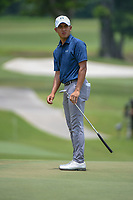 Lloyd Jefferson GO (PHI) watches his putt on 11 during Rd 4 of the Asia-Pacific Amateur Championship, Sentosa Golf Club, Singapore. 10/7/2018.<br /> Picture: Golffile | Ken Murray<br /> <br /> <br /> All photo usage must carry mandatory copyright credit (© Golffile | Ken Murray)