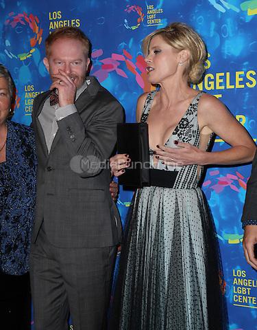 WEST HOLLYWOOD, CA - SEPTEMBER 24:  Jesse Tyler Ferguson, Julie Bowen attends the Los Angeles LGBT Center's 47th Anniversary Gala Vanguard Awards at Pacific Design Center on September 24, 2016 in West Hollywood, California. (Credit: Parisa Afsahi/MediaPunch).