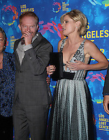 WEST HOLLYWOOD, CA - SEPTEMBER 24:  Jesse Tyler Ferguson, Julie Bowen attends the Los Angeles LGBT Center's 47th Anniversary Gala Vanguard Awards at Pacific Design Center on September 24, 2016 in West Hollywood, California. (Credit: Parisa Afsahi/MediaPunch).
