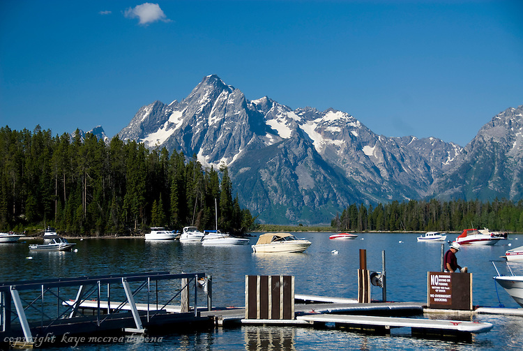 Grand Tetons, Jackson Lake, and Leeks Marina