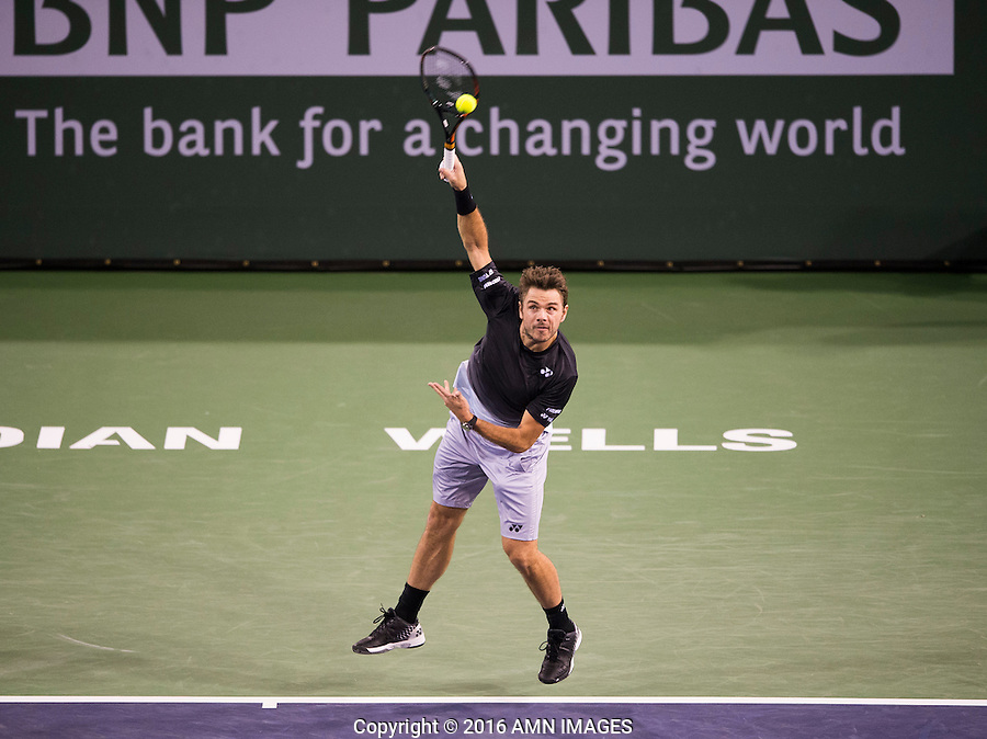 STAN WAWRINKA (SUI)<br /> <br /> BNP PARIBAS OPEN, INDIAN WELLS, TENNIS GARDEN, INDIAN WELLS, CALIFORNIA, USA<br /> <br /> &copy; AMN IMAGES
