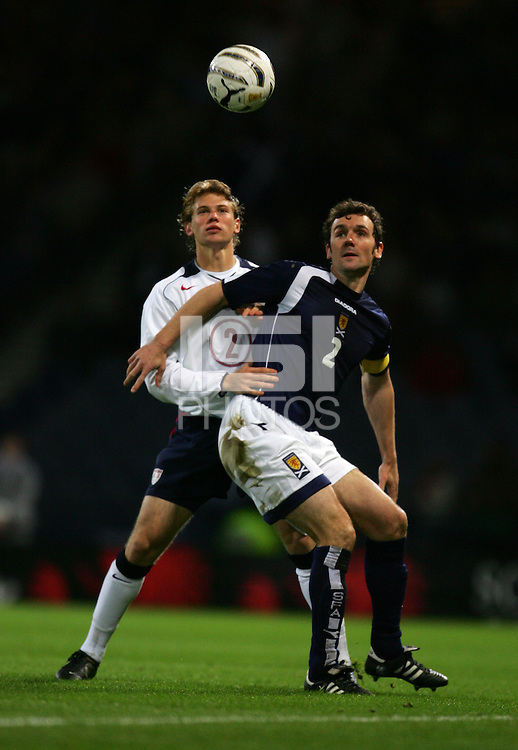 Matthew Ashton / Back Page Images..International Friendly..Scotland v USA..12th November, 2005..Christian Dailly of Scotland and Jonathan Spector of USA..--------------------..Jed Leicester  +44 7967091226..Javier Garcia  +44 7887794393..info@backpageimages.com..http://backpageimages.com/