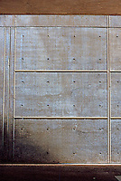 Louis I. Kahn: Kimbell Art Museum, Fort Worth. Eastern ground level entrance.  Photo '96.