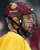 Mike Seidel (Duluth - 17) - The University of Minnesota-Duluth Bulldogs practiced on Friday morning, April 8, 2011, during the 2011 Frozen Four at the Xcel Energy Center in St. Paul, Minnesota.