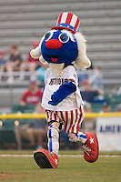 "Potomac Nationals mascot ""Uncle Slam"" at Pfitzner Stadium June 10, 2009 in Woodbridge, Virginia. (Photo by Brian Westerholt / Four Seam Images)"