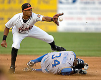 Florimon, Pedro 1419.jpg. Carolina League Myrtle Beach Pelicans at the Frederick Keys at Harry Grove Stadium on May 13th 2009 in Frederick, Maryland. Photo by Andrew Woolley.