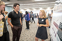 "Hannah Hoefs presents, ""Foundational Fishery Parameters for Six Macroinvertebrates of the Southern California Rocky Reefs""<br /> Mentor: Dan Pondella, Biology<br /> Occidental College's Undergraduate Research Center hosts their annual Summer Undergraduate Research Conference on July 31, 2019. Student researchers presented their work as either oral or poster presentations at this final conference. The program lasts 10 weeks and involves independent research in all departments.<br /> (Photo by Marc Campos, Occidental College Photographer)"