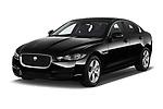 2018 Jaguar XE Prestige 4 Door Sedan angular front stock photos of front three quarter view