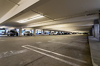 Metro Pointe at South Coast's parking garage, a collection of stores across the street from the more famous South Coast Plaza (in Costa Mesa), as seen on Black Friday 2019.