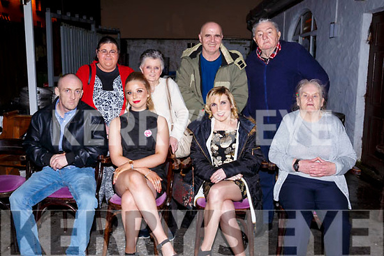 Jessica Mullens celebrates her 18th birthday  with her family in the Greyhound Bar on Saturday night last. Seated l-r, Karl Mullen (Dad), Jessica Mullen, Fidelma Mullen (Mom) and Nora Maher. Back l-r, Geraldine O'Brien, Chrissie O'Brien, Gerard O'Brien and Hawley Maher.