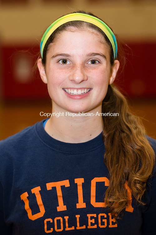 THOMASTON, CT- 30 November 2015-113015EC19-   Pomperaug's Lauren Rubinstein. Monday was the first day of practice for the Panthers. Erin Covey Republican-American