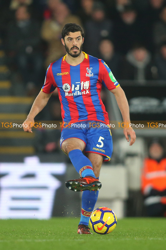 James Tomkins of Crystal Palace during Crystal Palace vs AFC Bournemouth, Premier League Football at Selhurst Park on 9th December 2017