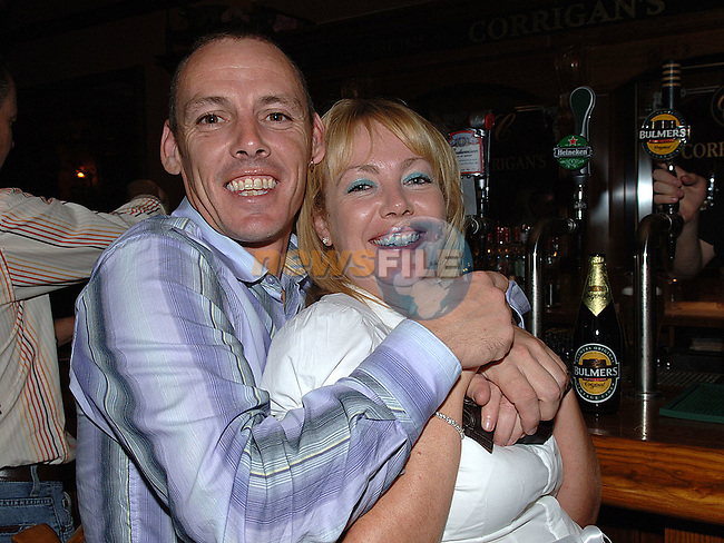 Chris Sullivan and Sinead White enjoying a night out in Corrigans. Photo: Fran Caffrey/Newsfile
