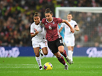 9th November 2019; Wembley Stadium, London, England; International Womens Football Friendly, England women versus Germany women; Nikita Parris of England works to catch up with Lena Oberdorf of Germany - Editorial Use