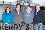 Keeping a close eye on the cattle and prices at the Mid Kerry Mart in Milltown on Saturday was l-r: Sheila Harrington Keel, Neilie Sullivan, Seamus Sullivan Kilgobnet and Jerry Sheehan Glencar....