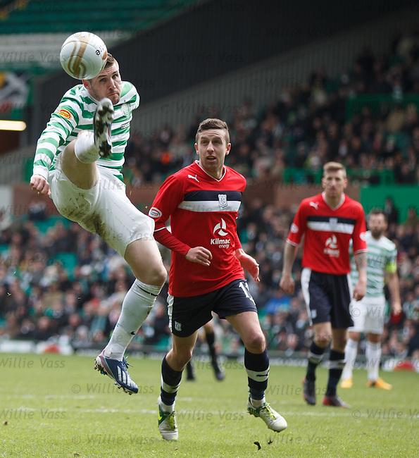 Gary Hooper tries to control an errant ball